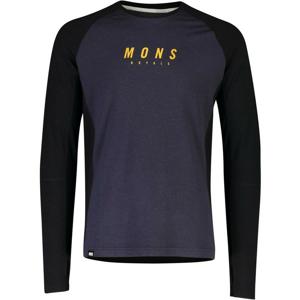 Pánské funkční triko Mons Royale Olympus 3.0 LS Velikost: L / Barva: černá