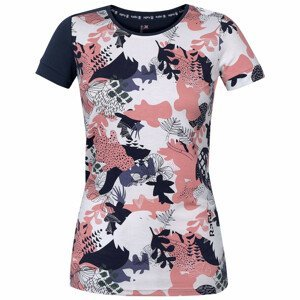 Dámské triko Rafiki Karin Velikost: M / Barva: bílá/růžová/modrá