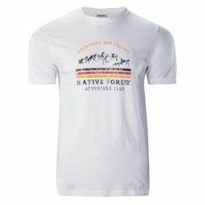Pánské triko Hi-Tec Eron Velikost: M / Barva: bílá