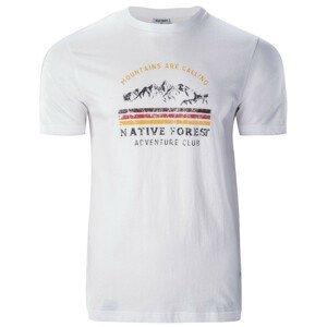 Pánské triko Hi-Tec Eron Velikost: L / Barva: bílá