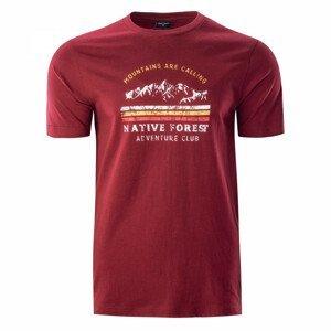 Pánské triko Hi-Tec Eron Velikost: XL / Barva: červená