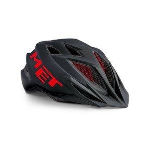 Cyklistická helma MET Crackerjack youth Barva: černá/červená