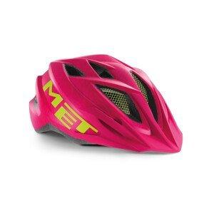 Cyklistická helma Met Crackerjack youth Barva: růžová/zelená