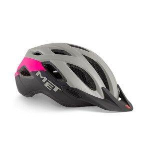 Cyklistická helma Met Crossover Barva: šedá/růžová