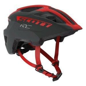 Dětská cyklistická helma Scott Spunto Junior Velikost helmy: 50-56 cm / Barva: červená/černá