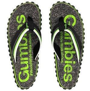 Žabky Gumbies Cairns Lime Velikost bot (EU): 46 / Barva: šedá/zelená