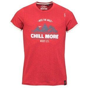 Pánské triko Chillaz Retro Worry Less Velikost: S / Barva: červená