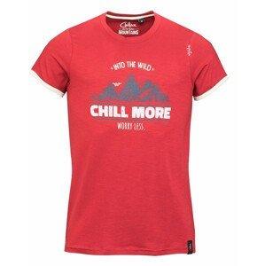 Pánské triko Chillaz Retro Worry Less Velikost: L / Barva: červená