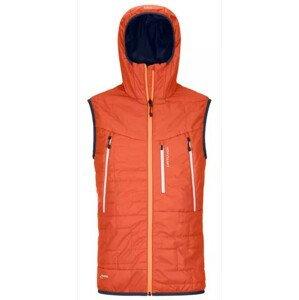 Pánská vesta Ortovox Piz Boe Vest Orange Velikost: M / Barva: oranžová
