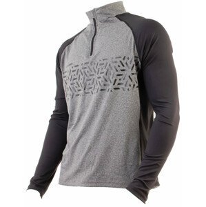 Pánský cyklistický dres Axon Nippon Dlouhý Velikost: M / Barva: černá/šedá
