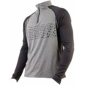 Pánský cyklistický dres Axon Nippon Dlouhý Velikost: XXXL / Barva: černá/šedá