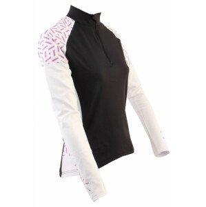 Dámský cyklistický dres Axon Nippon Dlouhý D Velikost: 42 / Barva: černá/bílá