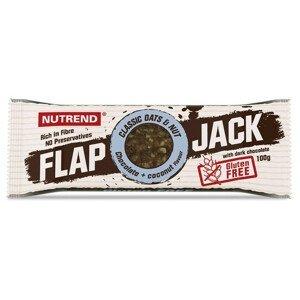 Tyčinka Nutrend Flapjack Gluten Free Příchuť: čokoláda+kokos s hořkou čokoládou