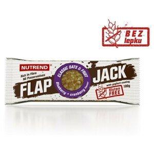 Tyčinka Nutrend Flapjack Gluten Free Příchuť: borůvka+brusinka s jogurtovou polevou