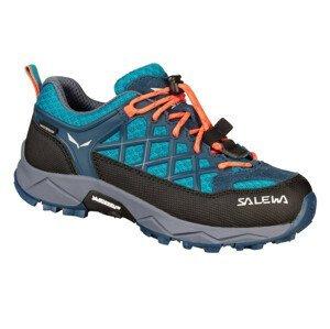 Dětské boty Salewa Jr Wildfire Wp Dětské velikosti bot: 27 / Barva: modrá