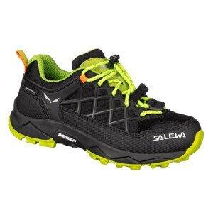 Dětské boty Salewa Jr Wildfire Wp Dětské velikosti bot: 27 / Barva: černá/žlutá