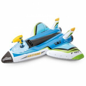 Nafukovací hračka Intex Water Gun Plane Ride-Ons 57536NP Barva: modrá