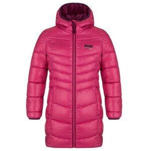 Dětský kabát Loap Inka Dětská velikost: 134-140 / Barva: růžová