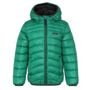 Dětská bunda Loap Infery Dětská velikost: 146-152 / Barva: zelená