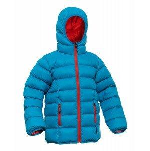 Péřová bunda Warmpeace Chip Dětská velikost: 158-164 / Barva: modrá/oranžová