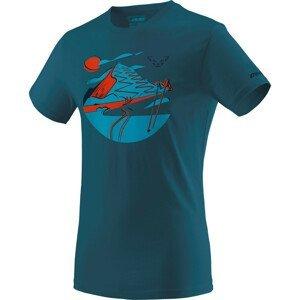 Pánské triko Dynafit Artist Series Co T-Shirt M Velikost: XXL / Barva: modrá/oranžová