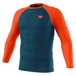 Pánské funkční triko Dynafit Tour Light Merino M L/S Tee Velikost: XL / Barva: modrá/oranžová
