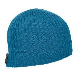 Čepice Ortovox Double Rib Logo Beanie Barva: světle modrá