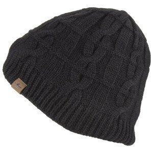 Nepromokavá čepice SealSkinz WP Cold Weather Cable Knit Beanie Obvod hlavy: 55-57 cm / Barva: černá