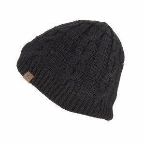 Nepromokavá čepice SealSkinz WP Cold Weather Cable Knit Beanie Obvod hlavy: 58-61 cm / Barva: černá
