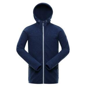 ALPINE PRO Xiss Modrá Pánský svetr s kapucí XS
