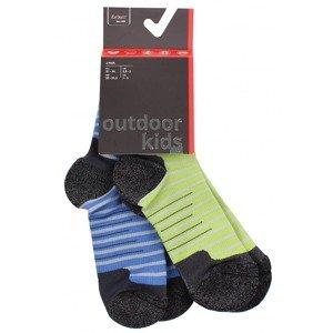 Outdoor Kids 1.0 dětské ponožky barva: modrá-zelená;velikost (obuv / ponožky): EU 31-34