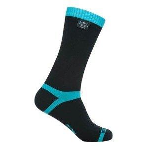 Nepromokavé ponožky DexShell Coolvent Barva Aqua Blue Stripe, Velikost S