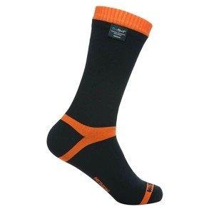 Nepromokavé ponožky DexShell Hytherm PRO Barva Tangelo Red Stripe, Velikost L