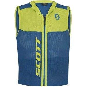 Dětská vesta s chráničem páteře Scott Actifit Plus Jr Barva modrá/zelená, Velikost XXS