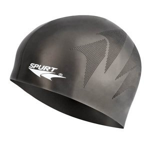 Silikonová čepice SPURT SH80 s plastickým vzorem, černá