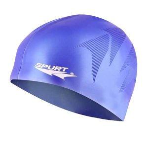 Silikonová čepice SPURT SE34 s plastickým vzorem, modrá