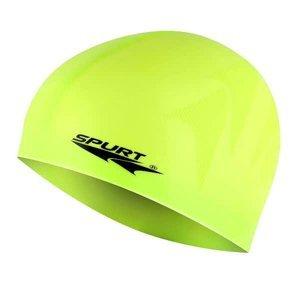 Silikonová čepice SPURT F213 s plastickým vzorem, žlutá