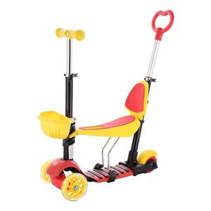 Koloběžka tříkolová NILS Fun HLB07 4v1 žlutá/červená