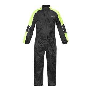 Moto pláštěnka NOX/4SQUARE Safety Barva černá-fluo žlutá, Velikost 3XL