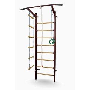 Kovové žebřiny Sport Child 230 x 66 cm bílá + montážní prvky pro sádrokartonové zdi