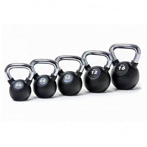 Kettlebell SEDCO RUBBER-CHROM PROFI - 8 kg
