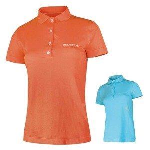 Dámské thermo tričko Brubeck PRESTIGE s límečkem Barva oranžová, Velikost M