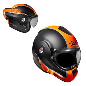 Moto přilba ROOF Desmo Flash Mat Barva oranžová, Velikost S (55-56)