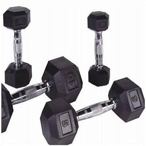 Jednoruční činky PROFI HEXA Bodysolid 1 - 50kg 2 x 6 kg