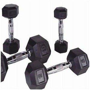 Jednoruční činky PROFI HEXA Bodysolid 1 - 50kg 2 x 20 kg