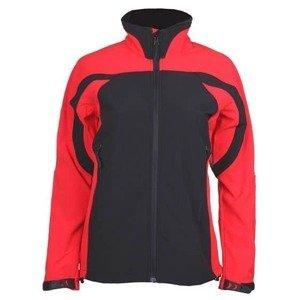 SBD-3 dámská softshellová bunda barva: černá-červená;velikost oblečení: S