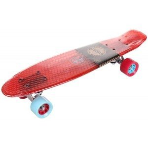Flip Transparent plastový pennyboard, 22,5 in barva: modrá