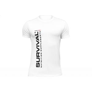 Triko Survival pánské (krátký rukáv) - bílé  Bílá -L