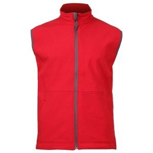Vision pánská softshellová vesta barva: červená;velikost oblečení: M