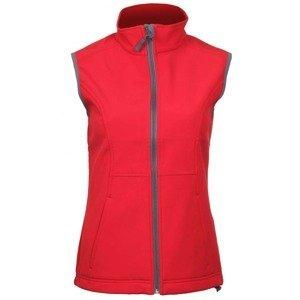 Vision dámská softshellová vesta barva: červená;velikost oblečení: L